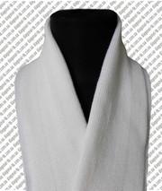 Шарф трикотажный белый,  черный зеленый. Форменные шарфы