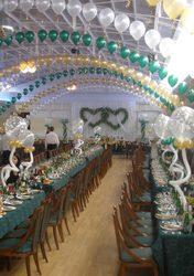Oформление залов воздушными шарами
