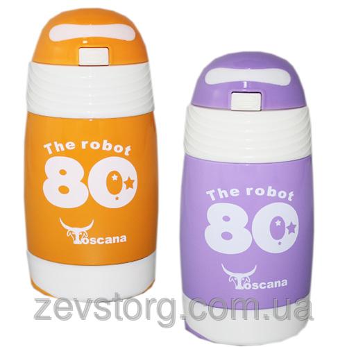 Термос детский с трубочкой Toscana 340 ml