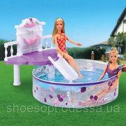Мебель с бассейном для кукол Gloria водная горка