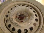 б/у зимняя резина на металлических дисках